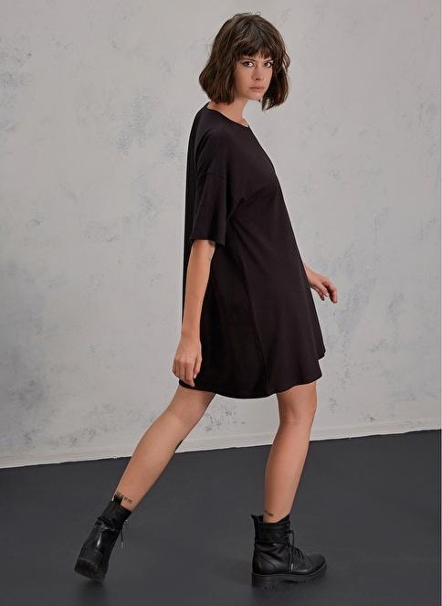 Pi π Tişört Elbise Siyah